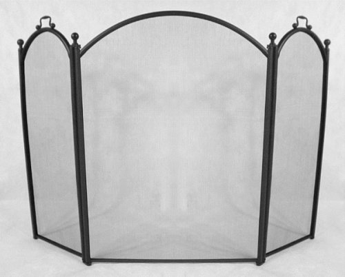 COLONIAL 3 Fold Trifold Panel Fireplace Hearth Spark Screen [52