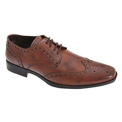 Route 21 Mens Pvc Sole Brogue Gibson Shoes Tan