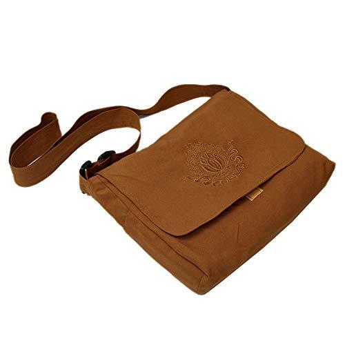 - ZeeStar Tibetan Buddhist Bag - Buddhist Monk Bag Embroidery Shaolin Kung Fu Oneshoulder Bag (D)