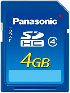 Panasonic 4 GB Hi Speed 15MB/s SDHC Class 4 Memory Card with Water/Shock/Magnet/X-Ray Proof RP-SDN04GU1A