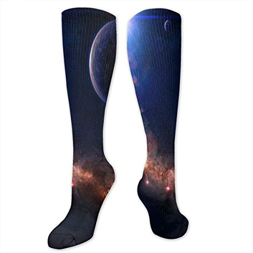 Compression Socks The Cosmic Path Womens Winter Sock Party Tight Stocking For Girls Men Boys Teen