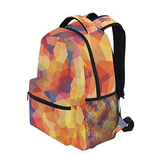 82ff4c66517a KVMV Vector Seamless Pattern Transparent Sparkling Pentagons Lightweight  School Backpack Students College Bag 1st Grade School Bags
