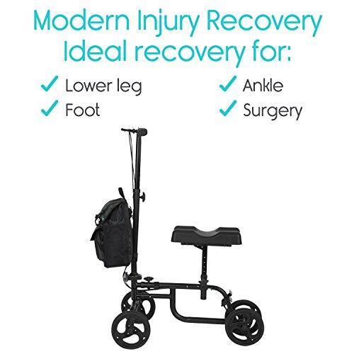 Vive Knee Steerable For Leg, Foot, - Kneeling Elderly Medical 4 Caddy Crutch - Bag