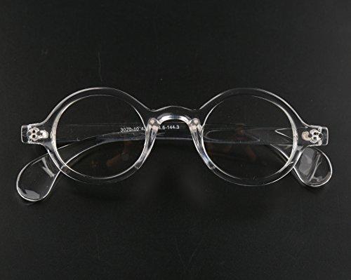 97b65f0c8e Amazon.com  Beison Small Round Eyeglasses Plain Glasses Frame Clear Lens  42mm (Clear