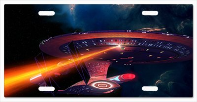 Star Trek Enterprise Fight Vanity License Plate Vanity License Plate