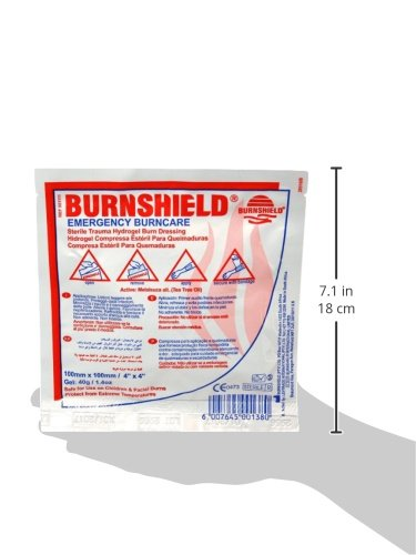 Burnshield Sterile Emergency Burn Dressing, 4 Inch x 4 Inch (Pack of 25)