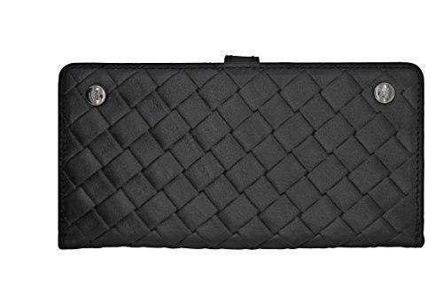Uunique Luxe Exotic Slider Folio Wallet Weave Schutzhülle für iPhone 6/6S Plus–schwarz