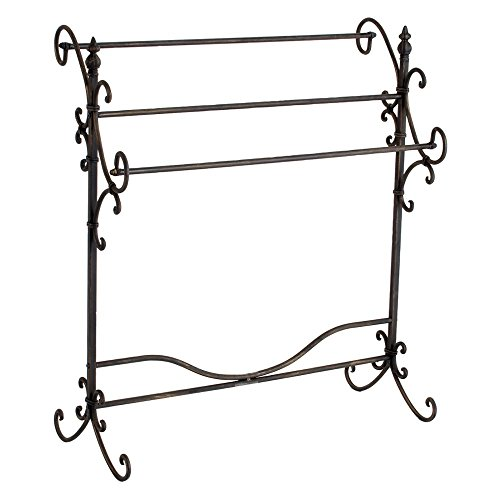 Tubular Steel Black Powder Coated Finish Elizabeth Quilt Rack