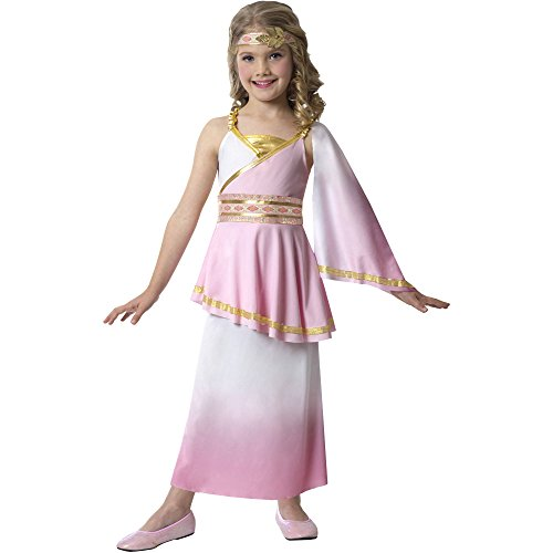 Girls Greek Goddess Princess Costume in Pink (Size Medium 8-10) (Aphrodite Costume Child)
