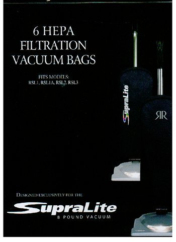 Riccar Vacuum Cleaner HEPA Bags - Type F,6 count by Riccar