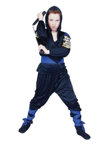 Blue Dragon Ninja Costume (Ninja Dragon Mast - Blue, Child Large Costume)
