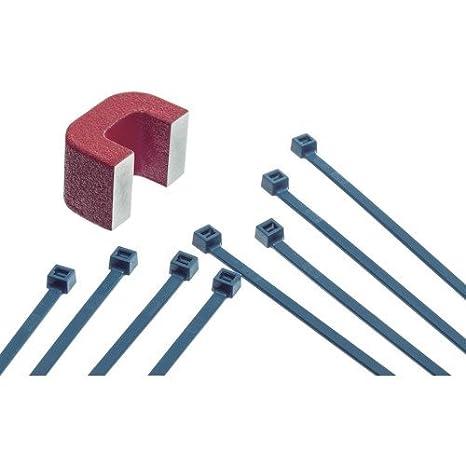 Sapiselco Brida nylon detectable 2,5 x 100 mm azul: Amazon.es: Bricolaje y herramientas
