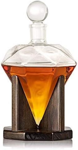 SBDLXY Jarra de Whisky, Jarra de Vino de Cristal de Diamante ...