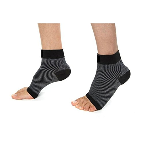 Hot Sale!Running Socks,BeautyVan Fashion Men Women Plantar Fasciitis Compression Foot Sleeves Outdoor Sport Best Ankle Support Socks (L, Black) -