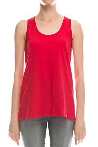 EttelLut Loose Fit Tank Tops for Juniors Athletic Red L