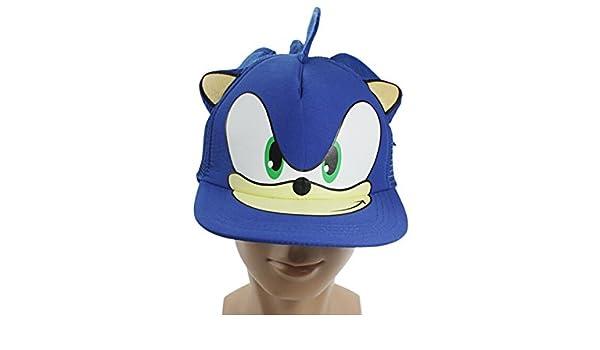 fc75f8044 Amazon.com : Blue Sonic The Hedgehog Adjustable Baseball Cap Cartoon ...