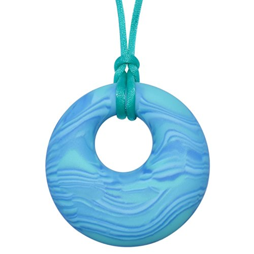 Scribbles Sensory Oral Motor Aide Chewelry - Chew Necklace for Sensory-Focused Kids (Aqua)