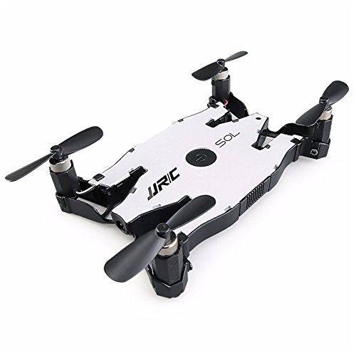 Ocamo JJRC H49 Ultra Slim Drone HD Wi-Fi Camera with Live Transmission and Beauty Mode 1-Key Return Altitude Control Compatible with iOS and Android White (export version)