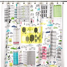 Kate Spade About Town Shower Curtain