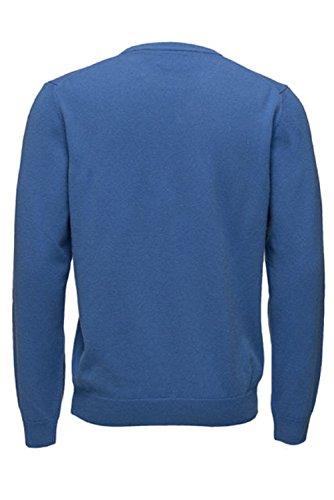 Punto Super Gant Fine Lambswool para Cardigan Azzurro Zip Chaqueta 424 Hombre wfY6Yaxqd
