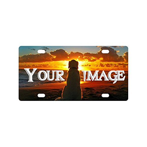 Personalized License Plate With Your Image - Custom License Plates Auto Car Tag - Metal Car License Plate Covers (Plates Personalized License Front)