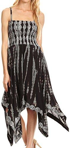 long black handkerchief dress - 6