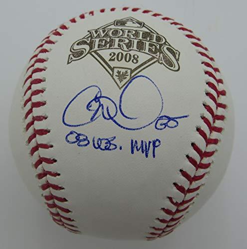 Cole Hamels Phillies Signed/Inscr Rawlings 2008 World Series Baseball JSA 144387
