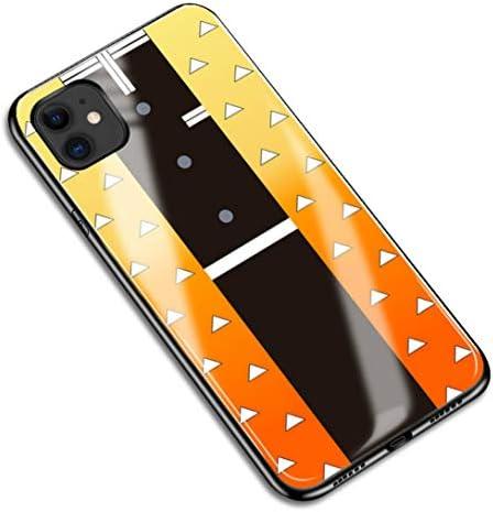 iPhone11 鬼滅の刃 Demon Slayer コスプレ 小物 道具 アニメ 漫画 アイフォン スマホケース スマホカバー IPHONE 11 保護ケース 携帯電話の殻 強化 鏡面ガラス ハードケース