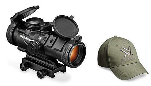 Vortex Optics SPR-1303 Spitfire 3x Prism Scope with EBR-556B Reticle (MOA), and FREE Vortex Baseball Hat