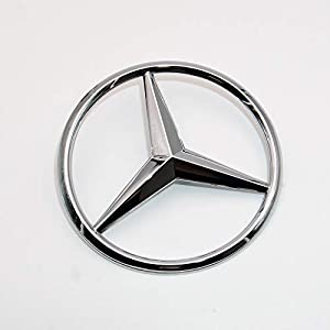 Gloss Black Luggage Lid Star Logo Trunk Rear Emblem W221 Modified S-Class AMG