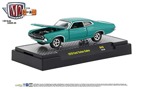Plymouth Hot Rod - M2 Machines 1:64 Detroit Muscle Release 45 1970 Ford Torino Cobra Teal