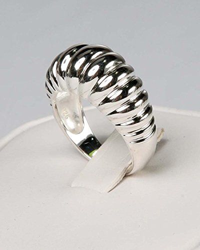 Avon .925 Sterling Silver Ribbed Cocktail Ring (6)