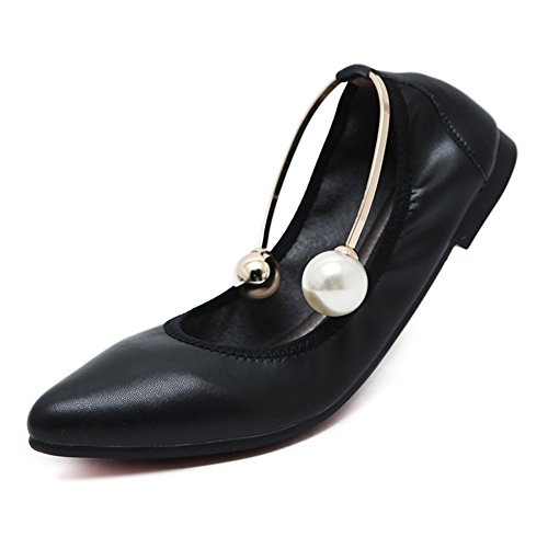 Size da Pointed per Large Toe Flats Scarpe donna Summer Casual SHINIK da Comfort Heel camminata Flat Microfiber UN Scarpe 768RqT