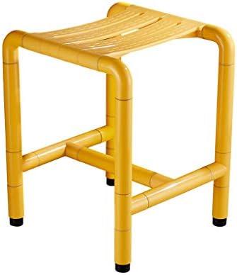 CHENFEILYD Bad Stuhl Duschhocker Behinderten Dusche Hocker,Medizinische Gesundheit Ältere Menschen Rutschfester Badstuhl Schwangere Badesitz (Grösse: 45 * 35 * 37,5 cm) Badehilfen einstellbar