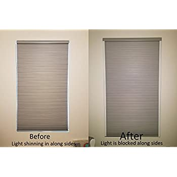 double sided blinds amazoncom easy lift 36 inch by 64 inch trim at home fits