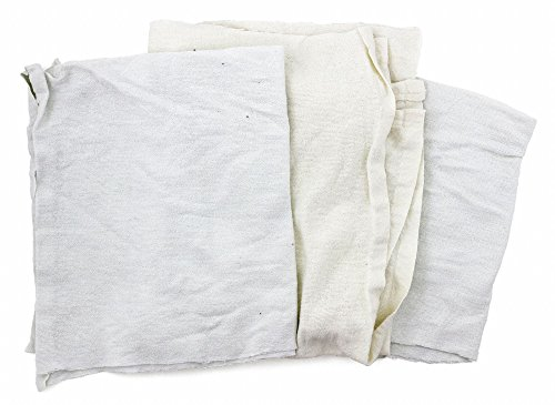 White Flannel, Size: Varies, 50 lb. Box by GRAINGER APPROVED