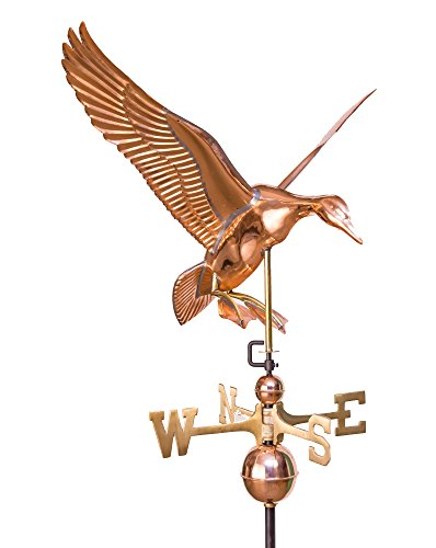 East Coast Weathervanes and Cupolas Landing Duck Weathervane Polished Copper