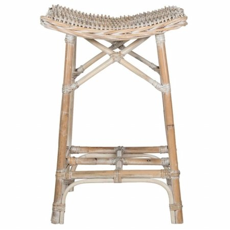 Safavieh Home Collection Rayna Natural Washed Wicker Barstool (Seagrass Stool)