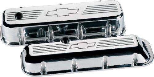 Billet Specialties 96021 Bowtie Logo Short Valve Cover for Big Block Chevy