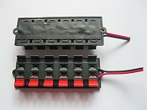 Amazon Com 2 Pcs Red And Black 12 Way Pin Speaker