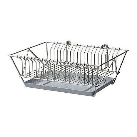 Fintorp - Escurreplatos, niquelado: IKEA of Sweden: Amazon ...