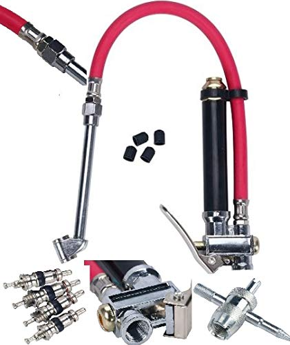 20to120 PSI Tire lnfIator Kit w/In-Line Gauge&Heavy Duty 12'' Air Hose Tool Quick Delivery