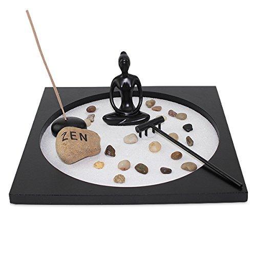 Tabletop Taiji Buddha Zen Garden Sand Rock Incense Burner Gift & Home Decor (G16298) Thai ~ We Pay Your Sales Tax by We pay your sales tax
