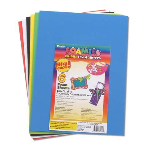 Foamies® Sheets - Basic Colors - 9 x 12 inches - 1 sheet