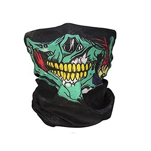 CALOFE Seamless Skull Print Face Mask Bandanas for Dust, Halloween, Riding, Outdoors (Cool Halloween Mask Designs)