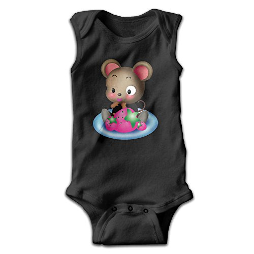 Infants Rat Short Sleeve Bodysuit Baby Onesie Baby Climbing Clothes Outfits Jumpsuit Outfits Romper For 0-24 Months Black 18 Months