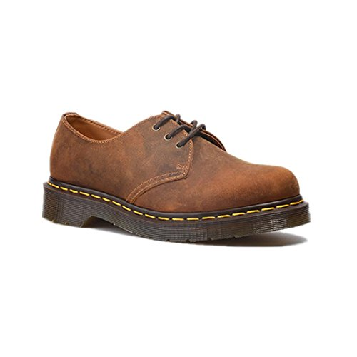 NVXIE Womens Men Flat Retro Couple Single Shoes Martin Boots New Leisure Comfortable Genuine Leather Scrub Thick Bottom Non-slip Brown Fall Spring BROWN-EUR42UK85