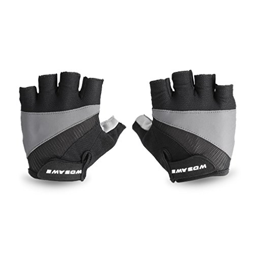 Cycling Motorcycle Gloves OUTAD Half Finger Military Tactical Sport Gloves for Army Gear Sport Driving Shooting Paintball Motorcycle/Bicycle Riding (Black, M)