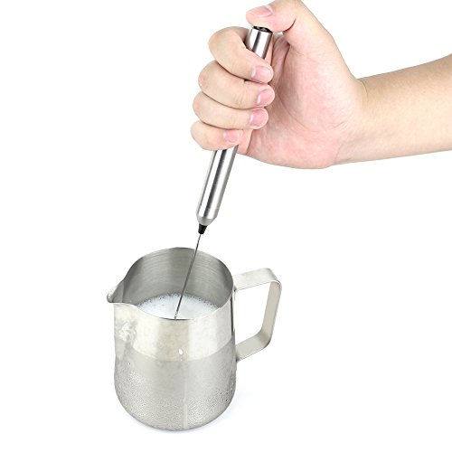 1Easylife H422 Stainless Steel Handheld Electric Milk Frother with Bonus Mix Spoon