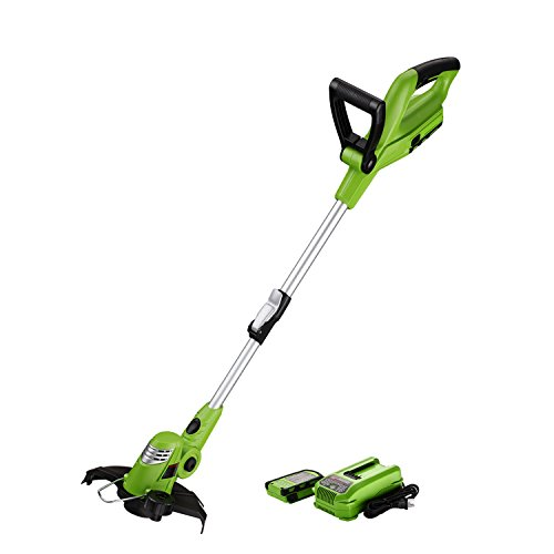 Gas Lawn Trimmer - Best Partner Light Weight Cordless String Trimmer Edger, 18V Lithium Lon, 10-Inch, Auto Single-Line Feed